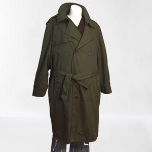 "Botany 500 Trench coat (measures 55"" Chest  XXL)"